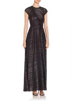 Shoshanna Iliana Shadow Stripe Gown