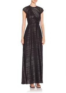 Shoshanna Iliana Shadow Stripe Gown
