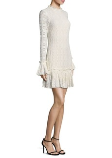 Shoshanna Ivy Long Bell Sleeves Mini Dress