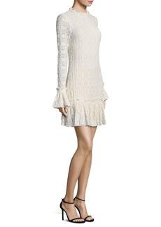 Shoshanna Ivy Long Bell Sleeves Mini Dress