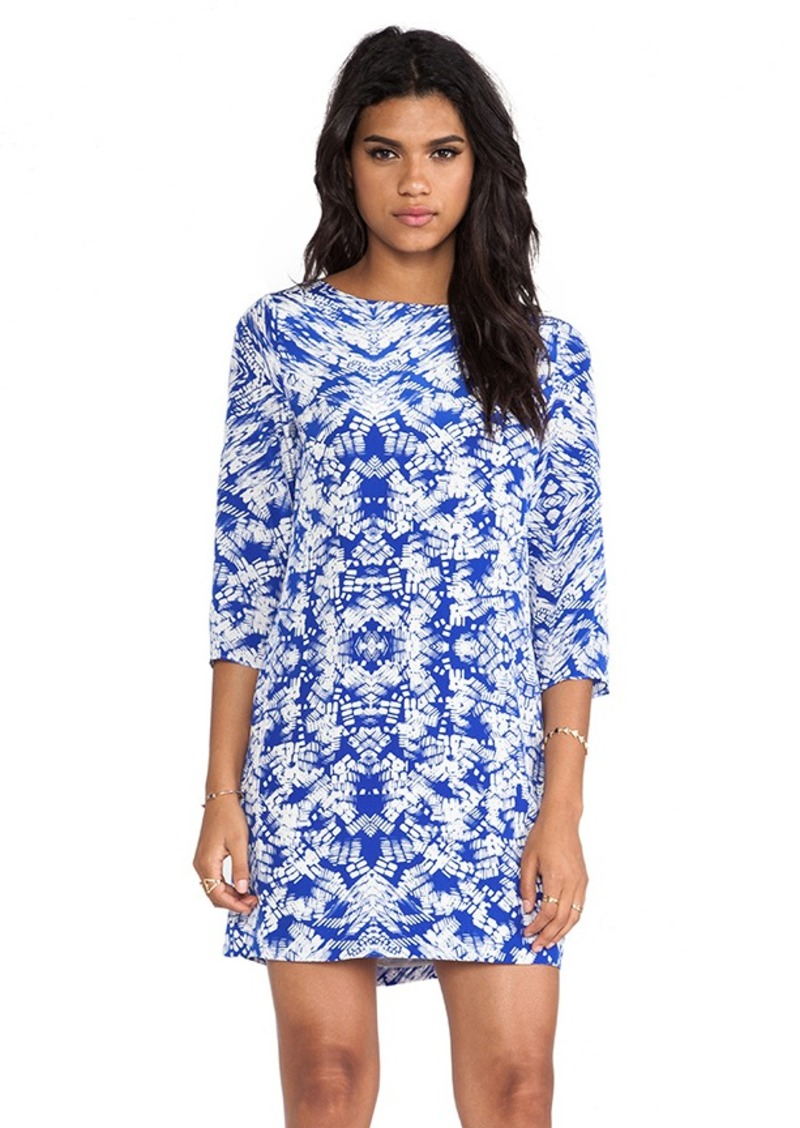 Shoshanna Kaleidoscope Print Meira Dress in Blue