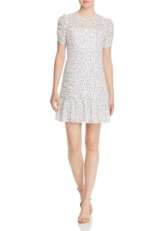Shoshanna Kayleigh Polka Dot Mini Dress