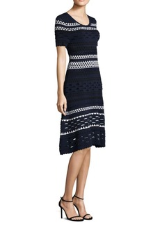 Shoshanna Knitted Scoopneck Dress