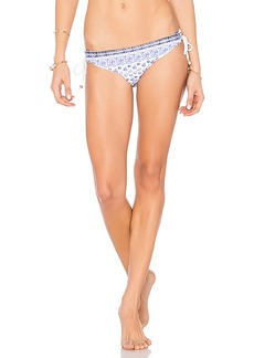 Shoshanna Lace Back Bikini Bottom in Blue. - size M (also in S,XS)