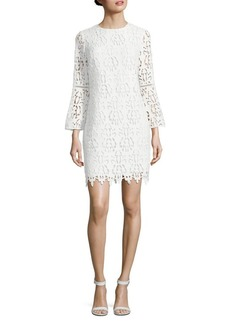 Shoshanna Lace Bell-Sleeve Dress