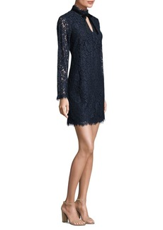Shoshanna Lace Keyhole Shift Dress