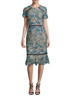 Shoshanna Lace Midi Dress