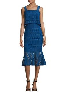 Shoshanna Lace Popover Dress