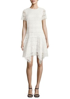 Shoshanna Laguna Chevron Lace Dress