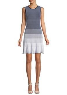 Laidley Ombré Pleated Dress