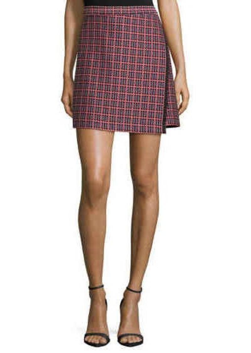 Shoshanna Lara Plaid Jacquard Mini Skirt