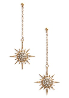 Shoshanna Lee Starburst Crystal Drop Earrings