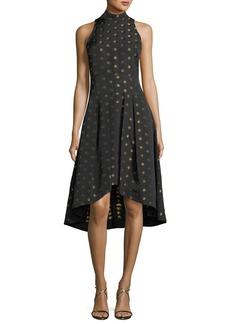Shoshanna Lewis High-Low Metallic Dot Dress