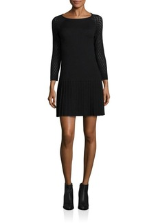 Shoshanna Lisette Knit Drop-Waist Dress