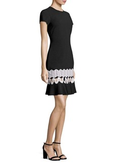 Shoshanna Lombard Knit Cutout Dress