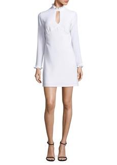 Shoshanna Long Sleeve Ruffled Dress