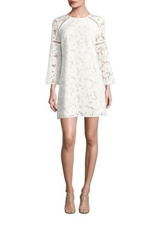 Shoshanna Long Sleeved Floral Lace Dress