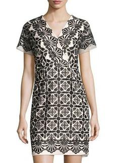 Shoshanna Maria Embroidered Sheath Dress