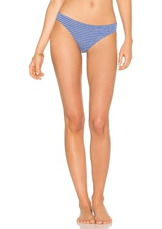 Shoshanna Marine Eyelet Stripe Bikini Bottom in Blue. - size M (also in L,S)