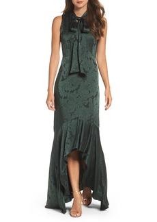 Shoshanna Mayburn Jacquard High/Low Gown