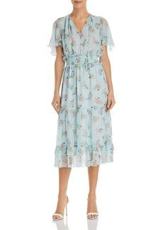 Shoshanna Mercerie Floral Midi Dress