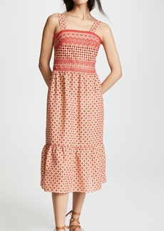 Shoshanna Midi Eyelet Cover Up Dress