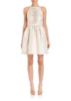Shoshanna Crystal Beaded Minidress