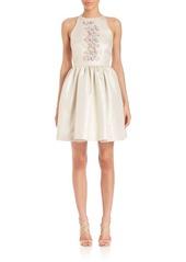 Shoshanna MIDNIGHT Crystal Beaded Mini Dress