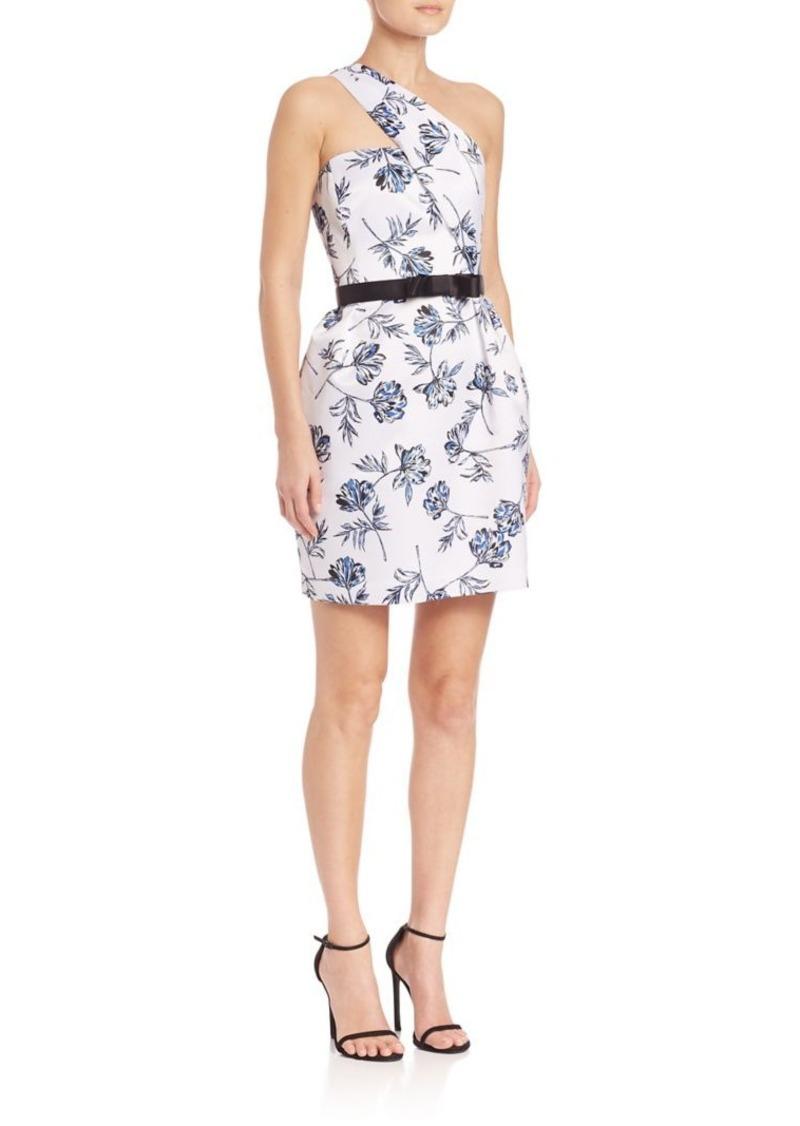 Shoshanna MIDNIGHT Eri One-Shoulder Floral Dress