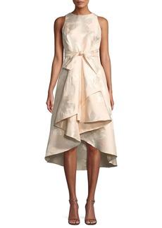 Midnight Preuss High-Low Jacquard Gown