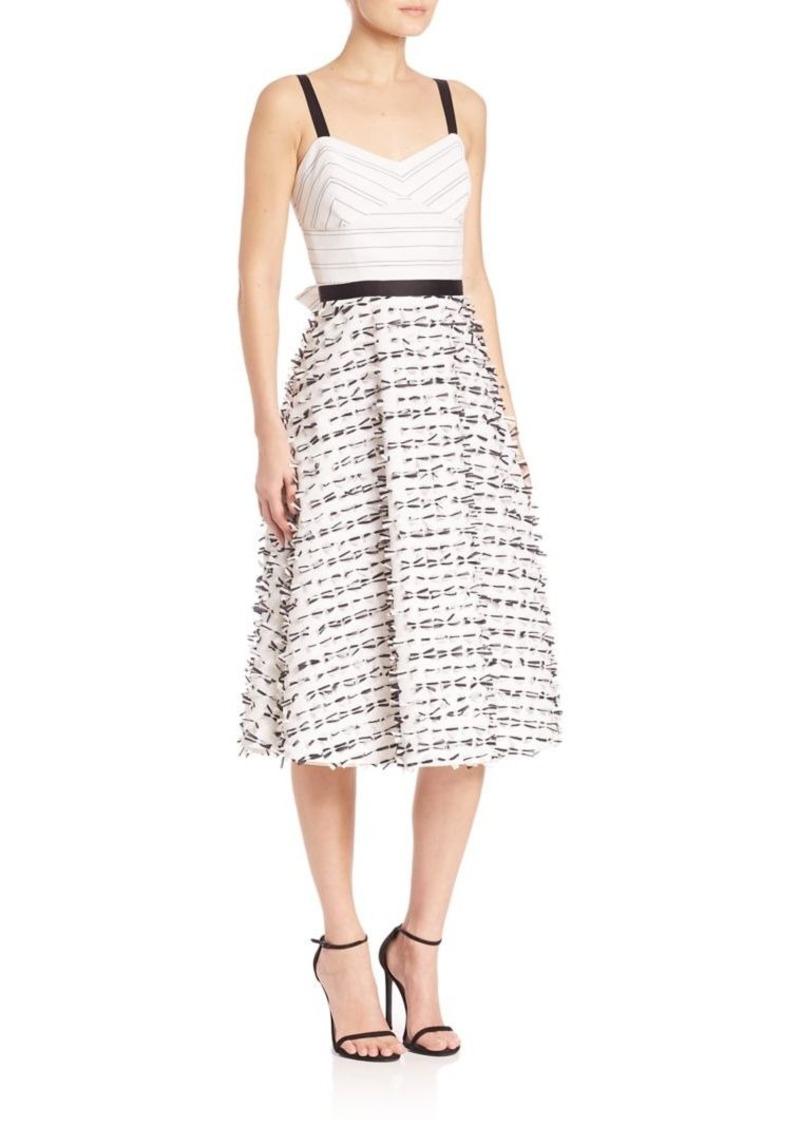 Shoshanna MIDNIGHT Tricia Clip Bow Dress