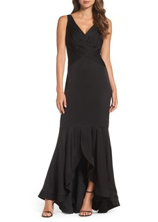 Shoshanna Montague High/Low Gown