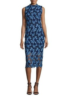Shoshanna Monticello Sleeveless Floral Lace Cocktail Dress