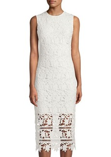 Shoshanna Monticello Sleeveless Lace Midi Dress