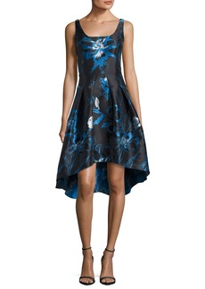 Shoshanna Moreno Sleeveless Floral High-Low Cocktail Dress