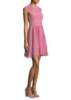 Shoshanna Mori Open-Knit Dress