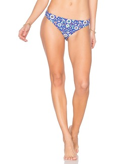 Shoshanna Mosaic Floral Bikini Bottom in Blue. - size L (also in M,XS)