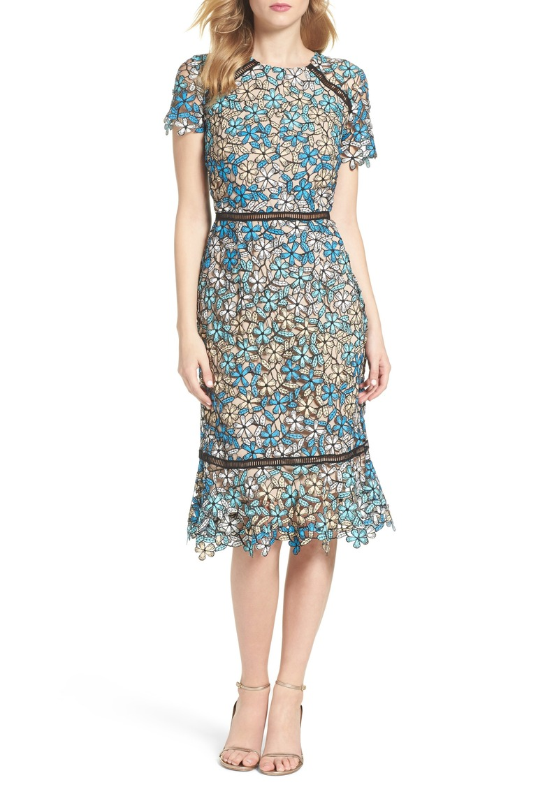 Shoshanna Shoshanna Octavia Lace Midi Dress Now $250.80
