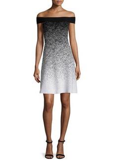 Shoshanna Off-The-Shoulder Fit-&-Flare Dress