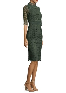 Olivie Dot Lace Dress