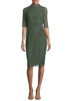 Shoshanna Olivie Lace-Circle Sheath Dress