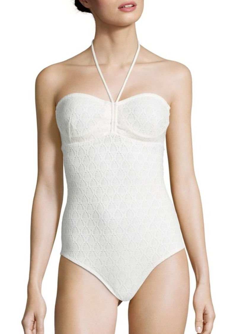 Shoshanna One-Piece Cinched Swimsuit