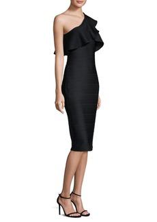 One-Shoulder Ruffled Midi Dress