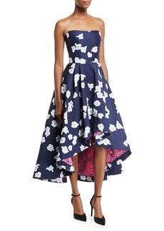 Shoshanna Paladino Floral Brocade High-Low Cocktail Dress