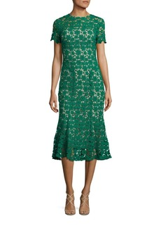 Shoshanna Park Floral Lace Midi Dress