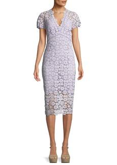 Paulina V-Neck Floral Lace Dress