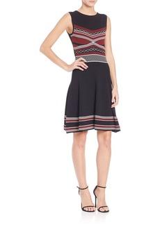 Shoshanna Printed Knit Dress