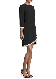 Quarter Sleeve Scallop Mini Dress