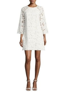 Shoshanna Rae 3/4-Sleeve Mini Lace Cocktail Dress