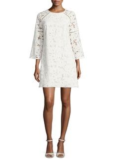 Shoshanna Rae 3/4-Sleeve Mini Lace Cocktail Dress